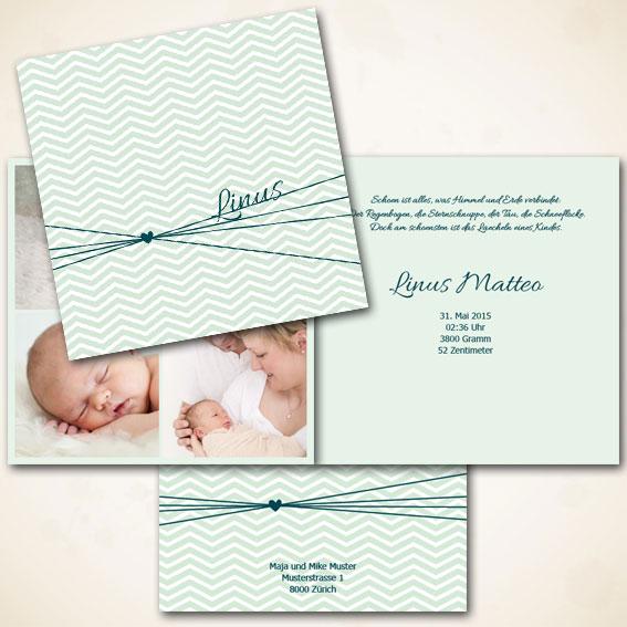 Geburtskarte für Bub