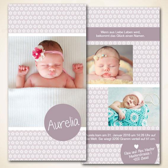 Baby Karte zur Geburt