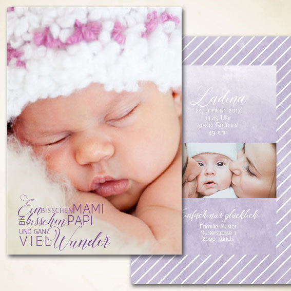 Online Shop für moderne Geburtsanzeigen