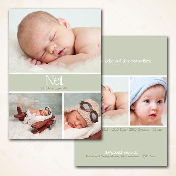 klassische Geburtskarte