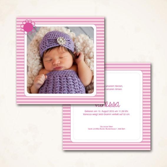 moderne Geburtskarte