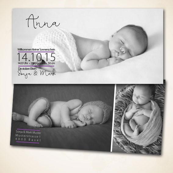 Geburtskarte bestellen