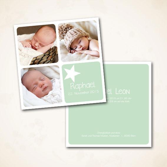 Geburtsanzeige grosse Karte