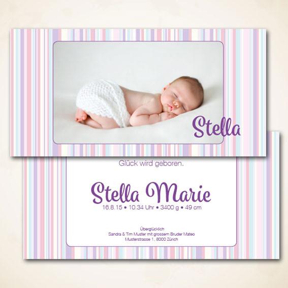 Design Geburtskarte