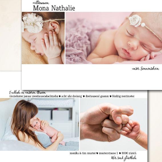 moderne Babykarte bestellen
