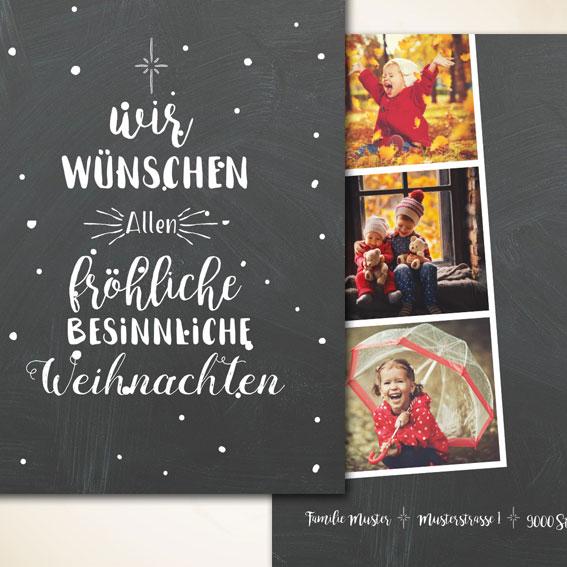 Familie Weihnachtskarte