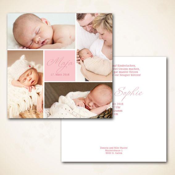 Geburtsanzeige für Meitli