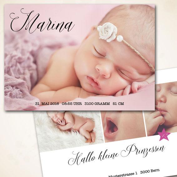 Modere Babykarte