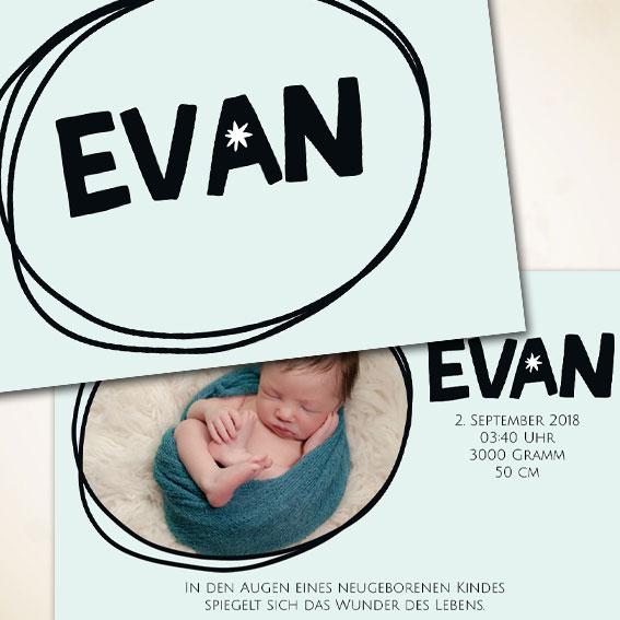 skandinavische Babykarte