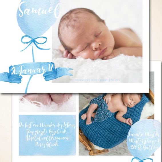 günstige Fotokarte zur Geburt