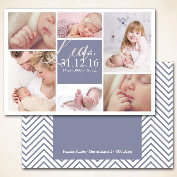 Karte zur Geburt für Mädchen bestellen