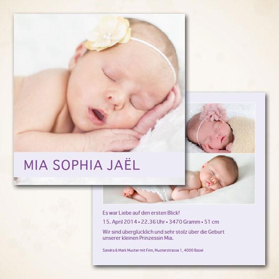 schöne Geburtsanzeige