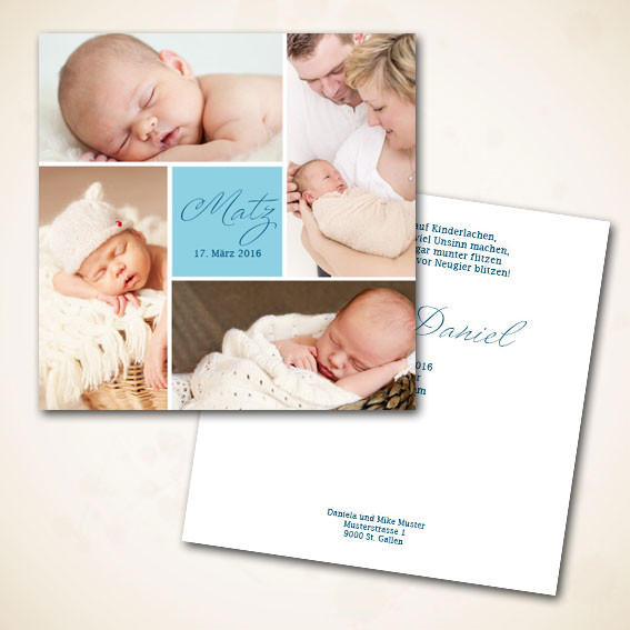 Geburtscharte für Buebe