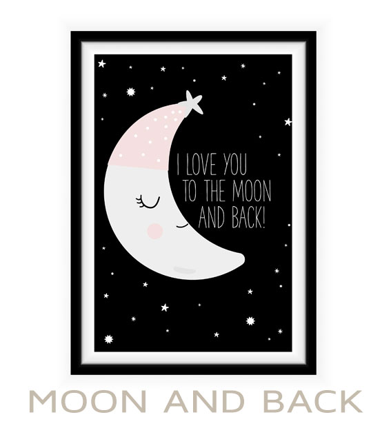 Poster to the moon and back