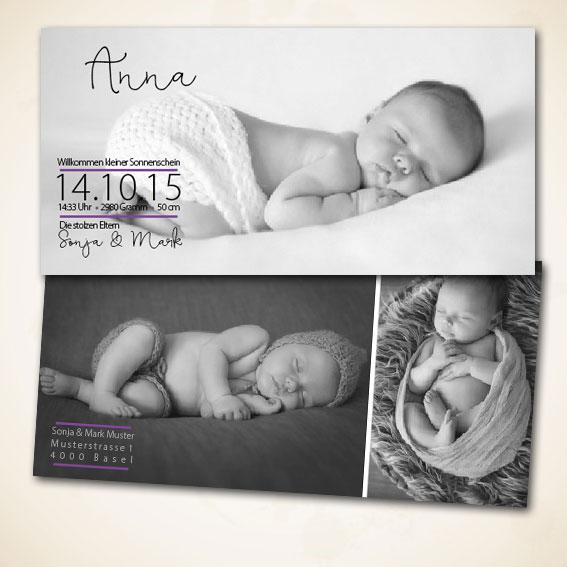 Design Geburtsanzeige