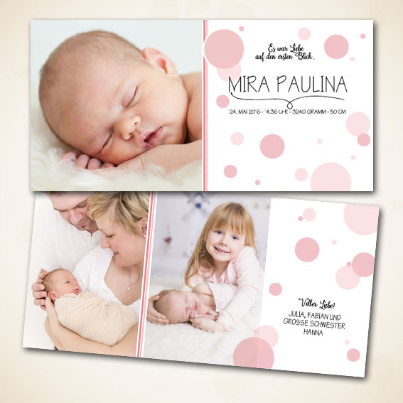 Geburtsanzeige bestellen für Meitli