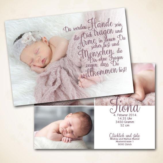 Geburtskarte Design Fiona