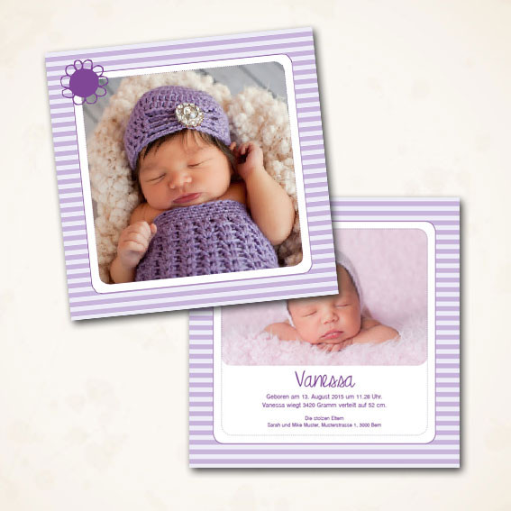 Bestellen Online Geburtskarte