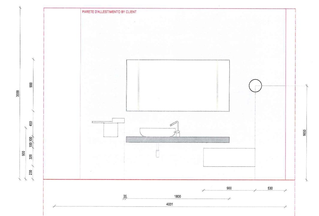 Scheda tecnica della composizione Boffi proposta