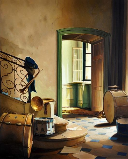 Courant d'air – Huile sur toile – 81 x 65 cm - oeuvre de Philippe Clicq
