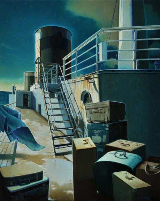 Malles de mer – Huile sur toile – 81 x 65 cm - Oeuvre de Philippe Clicq