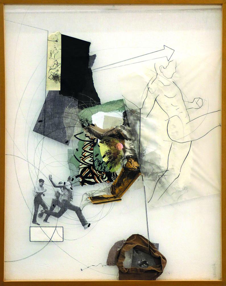 Lui-passage - 100 x 90 cm - 2017 - Oeuvre de Tiffany Vailier