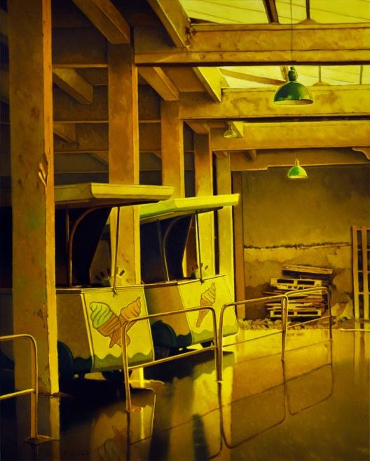 Galerie des glaces – Huile sur toile – 81 x 65 cm - oeuvre de Philippe Clicq