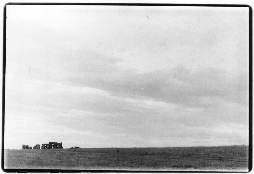"""""""Vue de Stonehenge"""", photographie argentique, 17x24cm Alice Courvoisier"""