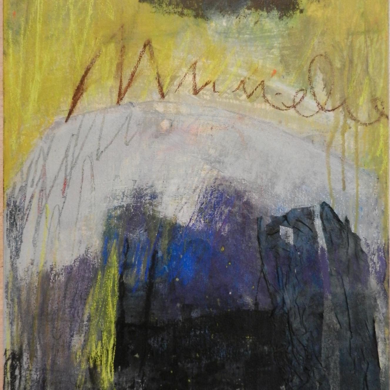 """""""Sans titre"""" 55 x 46 cm, acrylique et encre. Peinture Marie-Jo Dilly"""