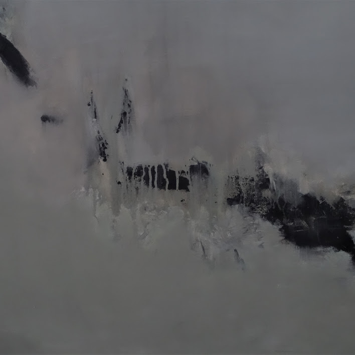 """""""Les Frissons"""" - huile sur toile - 80 x 80 cm - 2018 -  Oeuvre de Nanie"""