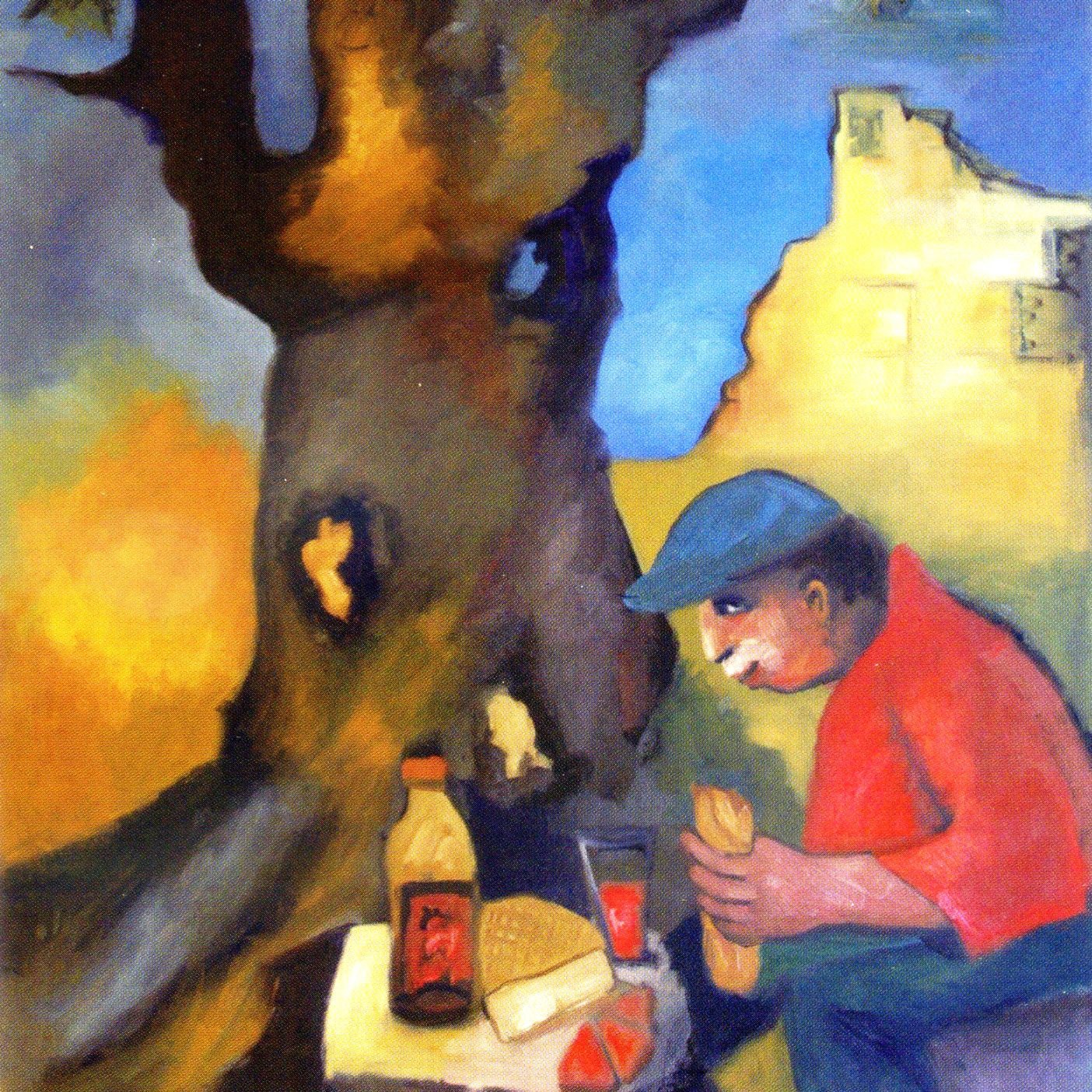 Le grand chêne - Huile sur toile - 116 x 89 cm. Peinture de Pierre Assémat