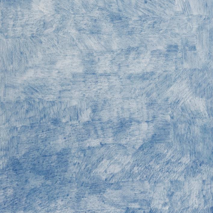 """""""Errance en bleu"""" - Dessin, crayon de couleur - 70 x 50 cm - Oeuvre de Martine Cazin"""