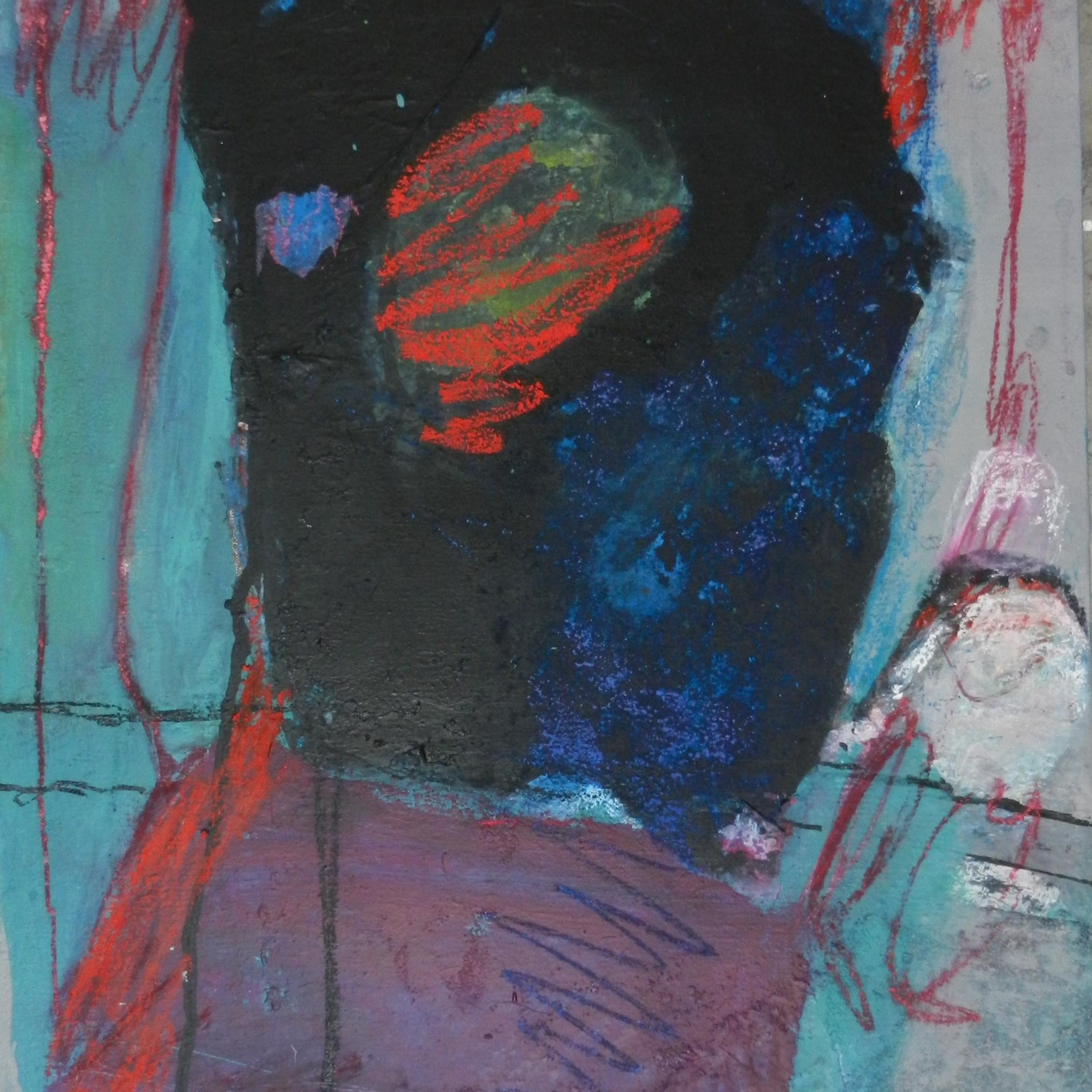 """""""Sans titre"""" 60 x 50 cm, acrylique et pastels. Peinture Marie-Jo Dilly"""