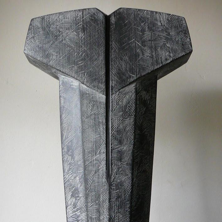 """""""Torse II"""" - Hêtre, -H 50 x L 30 cm - 2019. Sculpture de Patrice Poutou"""