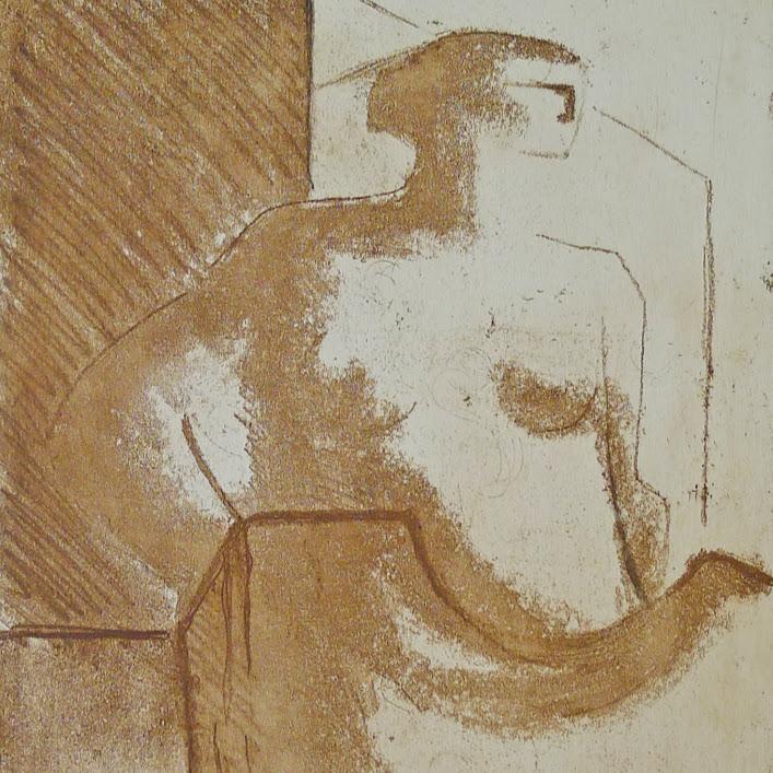"""""""Sans titre (Grav N°21)"""" - Gravure (2002) - n°IV/VI - 25 x 19,5 cm.Oeuvre de Suzanne ELATH"""