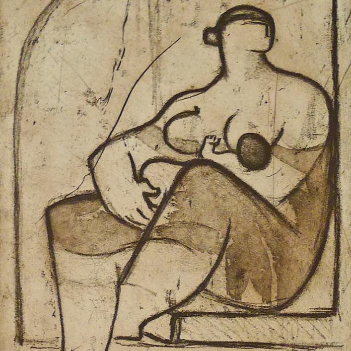 """""""Sans titre (Grav N°25)"""" - Gravure (2006) - n°1/5 - 25 x 20 cm - passe-partout. Oeuvre de Suzanne ELATH"""