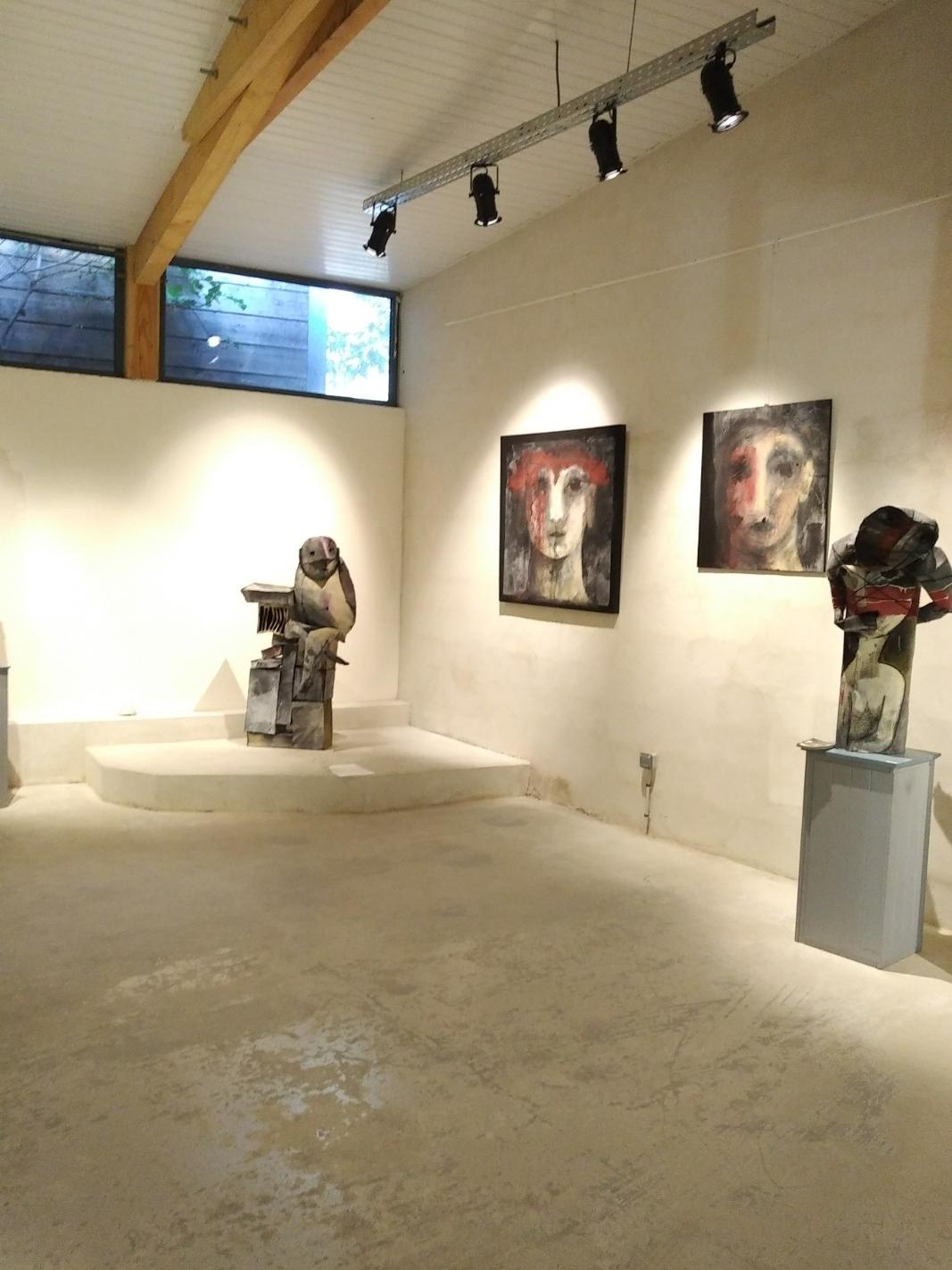Exposition de juilllet 2018 oeuvres de Nadine Vergues