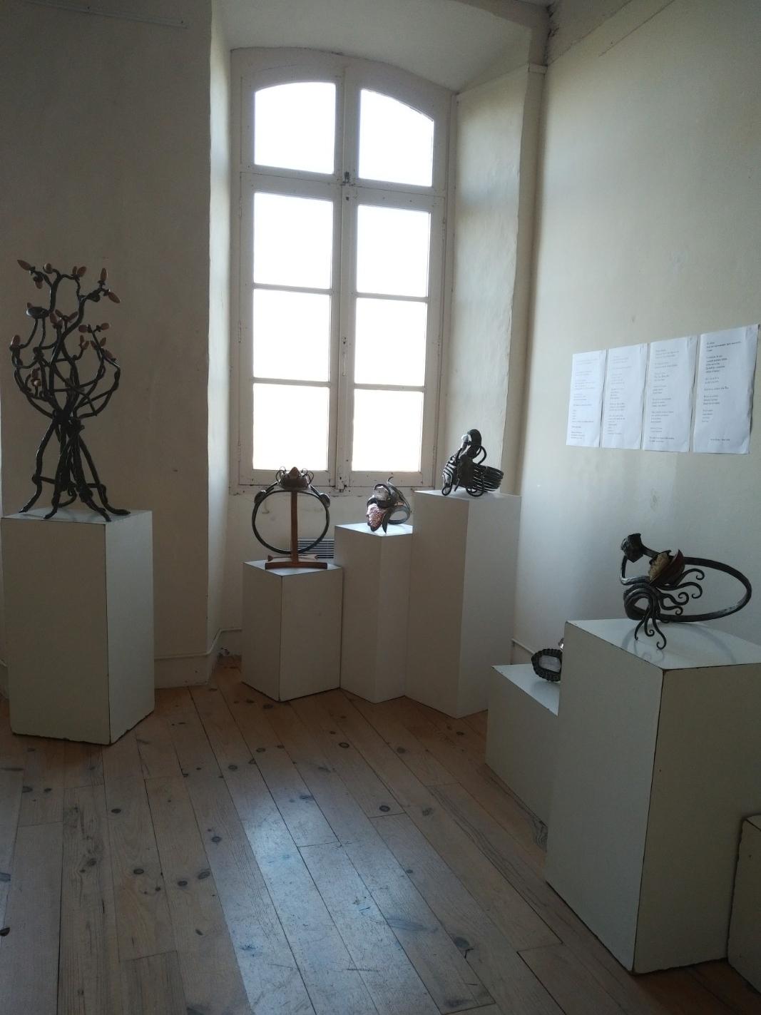 Exposition de juillet 2018 Sculptures d'Arnaud Elisabeth