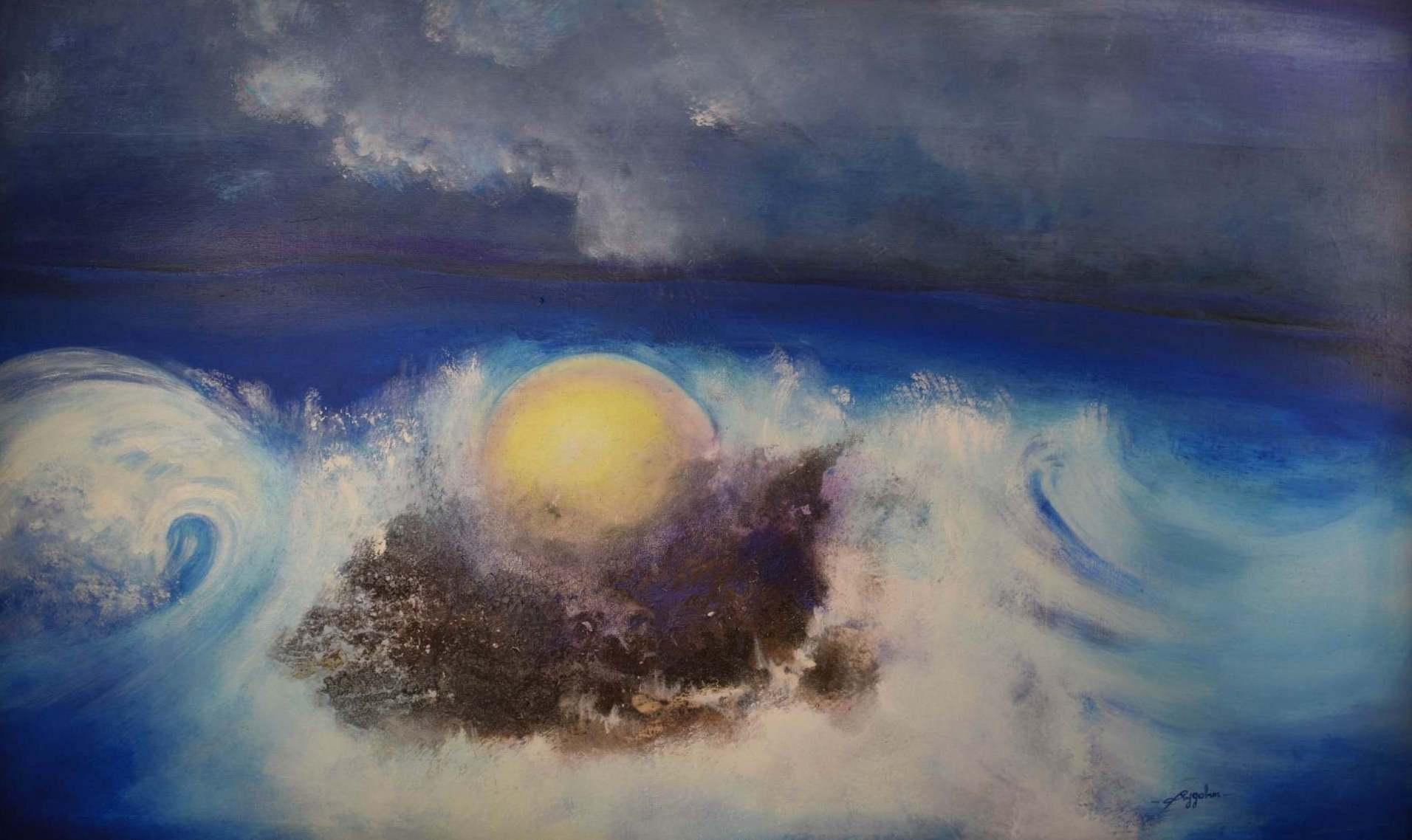 Agbeta hoyo - Acrylique sur toile - 162x100 cm