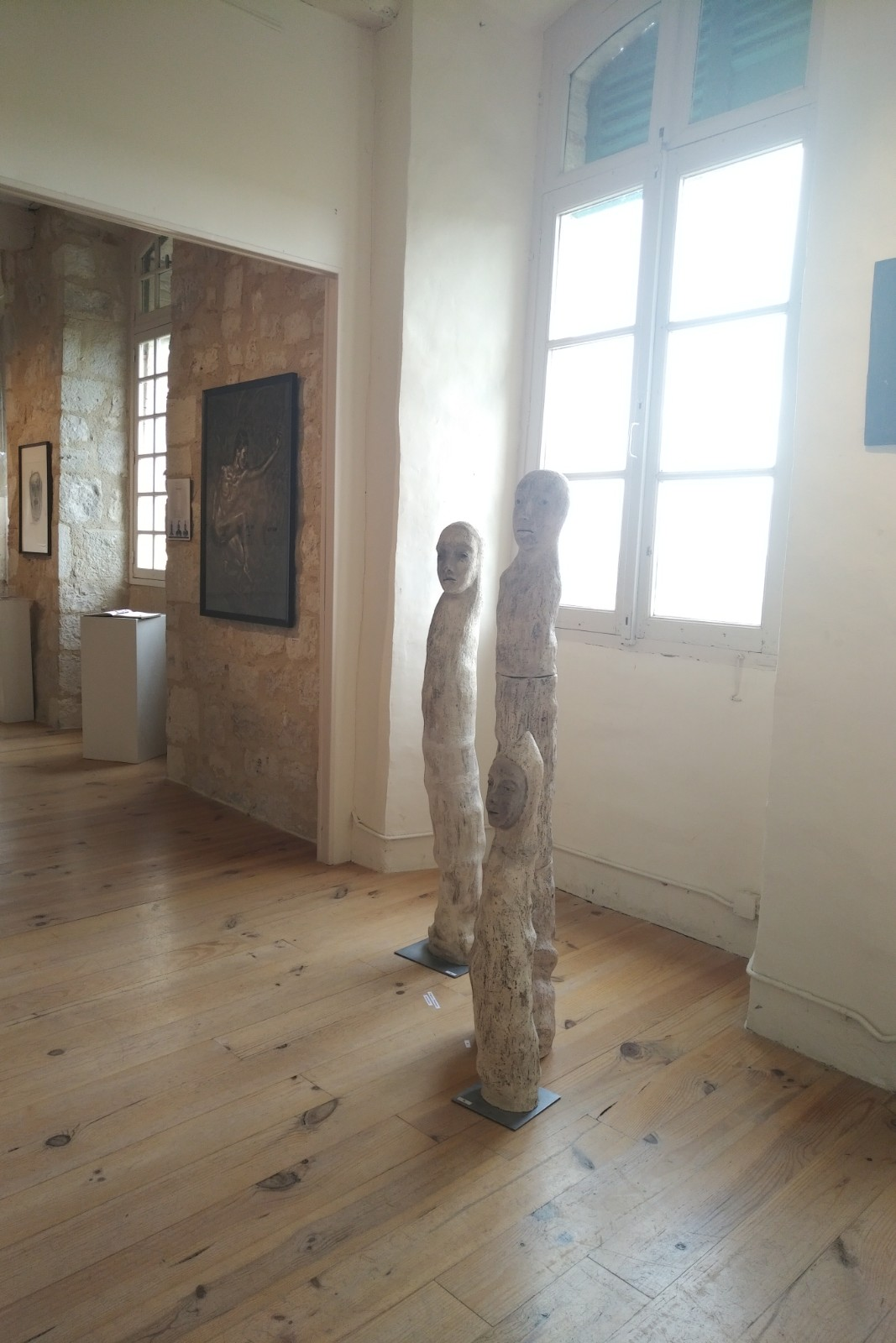 Exposition de juin 2018 Oeuvres d'Hazel Thaïs et Fanny Pallaro