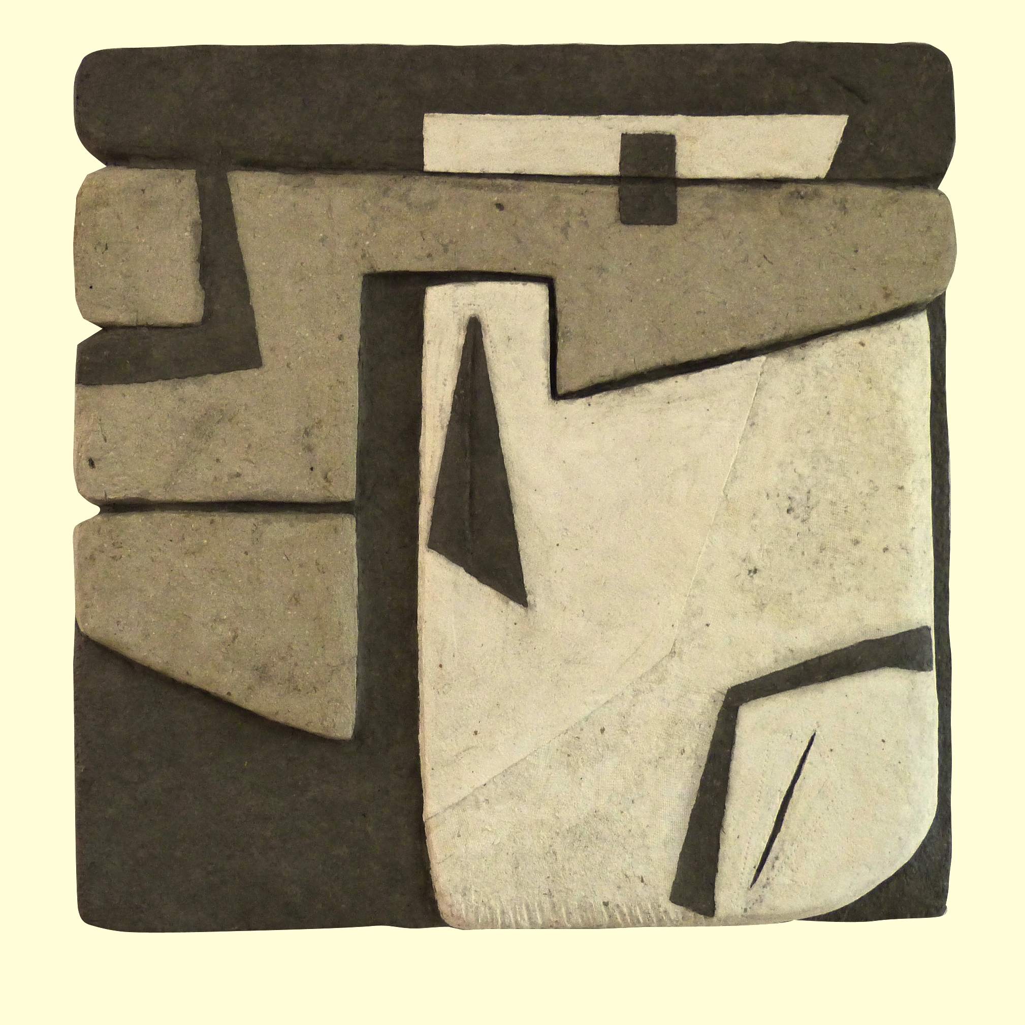 Grand parallèle - Fibre de coton et de lin - 60 x 60 cm. Oeuvre de Tatiana Rozenblat