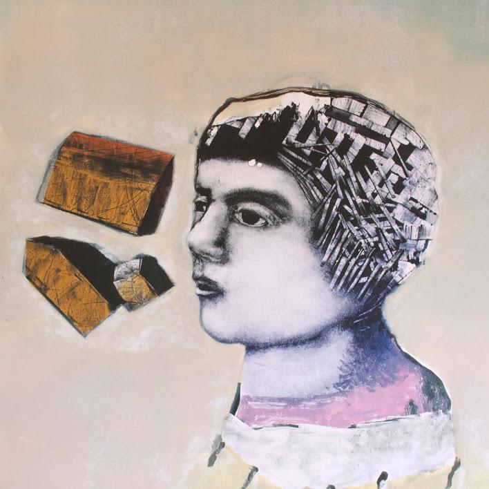 """""""L'accent"""" - Monotype, sur papier Hahnemühle 300g - Encres de lithographie -Oeuvre de Mélanie Duchaussoy"""