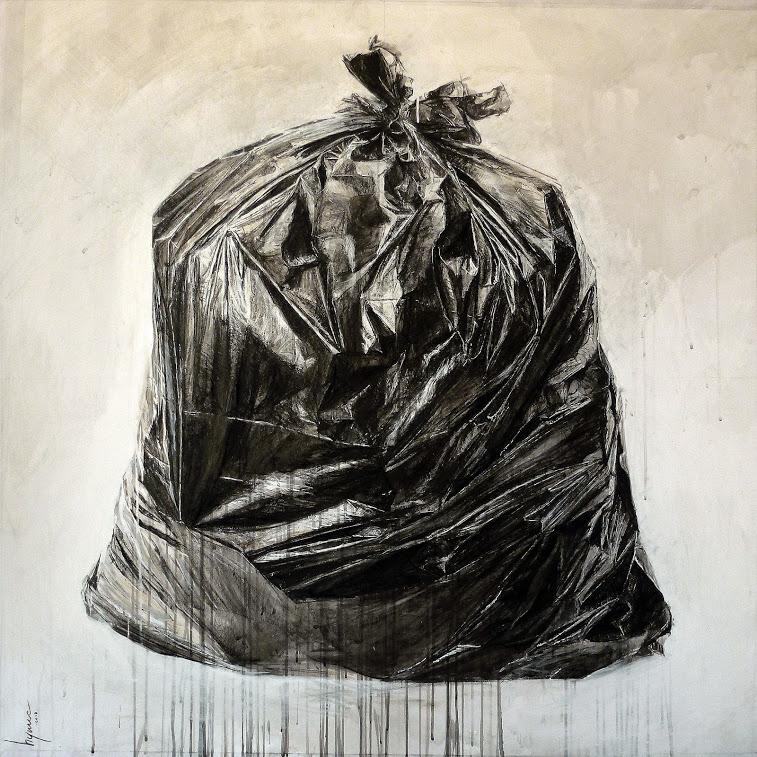 """trash bag 4"" - Oeuvre de Hyane"