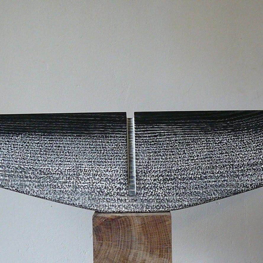 """""""Thorax I"""" - frêne, pièce unique - 68,5 x 12,5 x 7 cm - 2017. Sculpture de Patrice Poutou"""