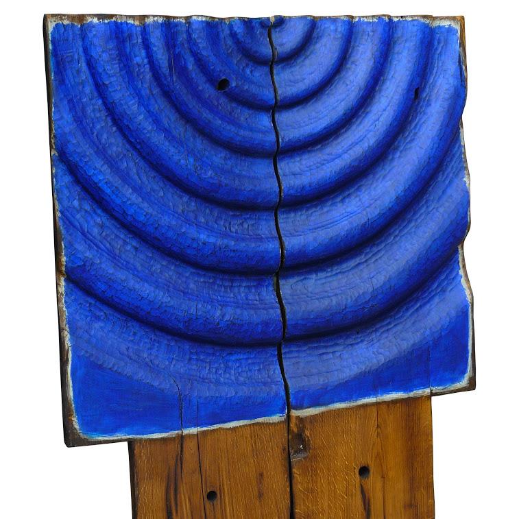 Chêne -  2 x ( 48 cm 119 ) cm. Sculpture de Bruno Bienfait