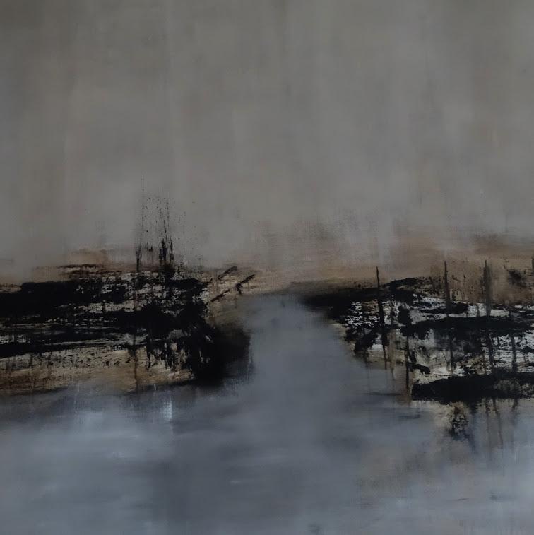 """""""Ailleurs"""" - Huile sur toile - Dim. 131 x 196  - 2018. Oeuvre de Nanie"""