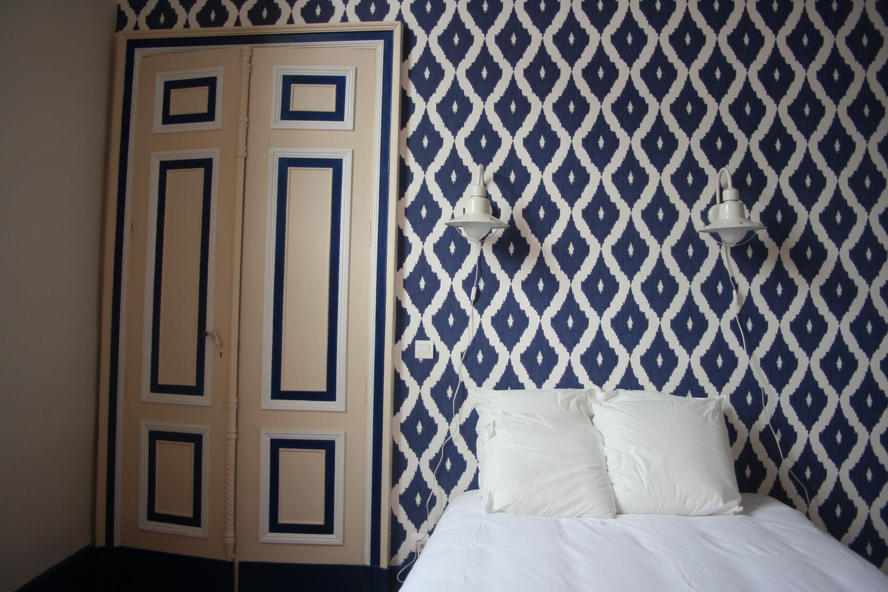 Chambre Breskens. Bleu et sable