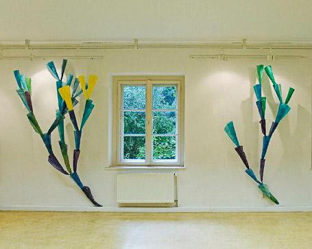 Papierinsatllation Koralle III, Kunsthaus Flora