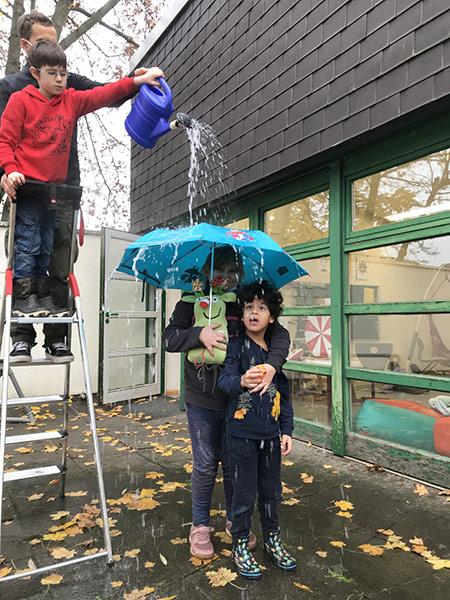 Und selbst den größten Regenschauer ...