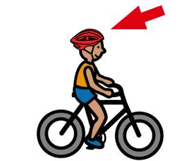 Fahrradfahren nur mit Helm!